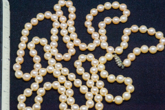 Helen Paddle jewelry pearls long strand Mum wore to Carol's wedding