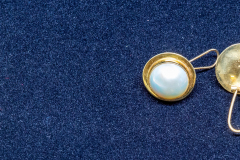 Helen Paddle jewelry pearl (Maube) earrings 3 Val. $1500 1997 Patti