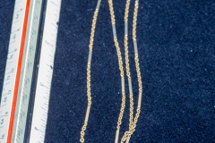Helen Paddle jewelry gold chain with flat sections