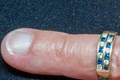 Helen Paddle jewelry gold white and yellow pinkie ring with sapphires and diamonds value $255 in 2004