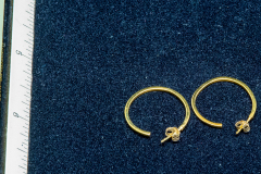 Helen Paddle jewelry gold hoop earrings