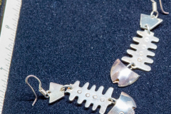 Helen Paddle jewelry silver fish earrings Pattiu