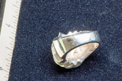 Helen Paddle jewelry silver swirly large ring nice with the swirly earrings Patti