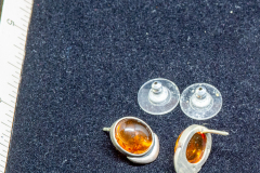 Helen Paddle jewelry silver earrings with amber