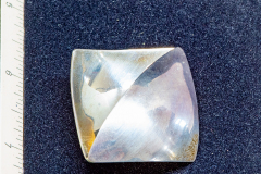 Helen Paddle jewelry silver brooch square, two triangular bent planes