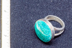 Helen Paddle jewelry silver ring turquoise coloured stone or class