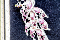 Helen Paddle jewelry large hat hair pin silver () with pink cut glass