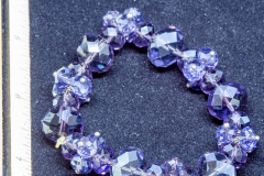 Helen Paddle jewelry purple cut glass elastic bracelet