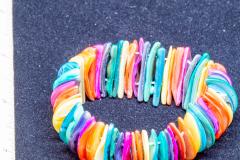 Helen Paddle jewelry bracelet elastic with dyed shells Patti