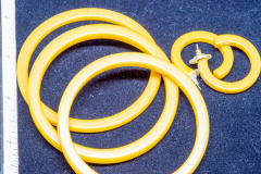 Helen Paddle jewelry yellow bangles earrings bakelite Patti