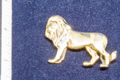 Helen Paddle jewelry gold () lion brooch