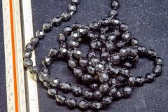 Helen Paddle jewelry black jet glass  necklace